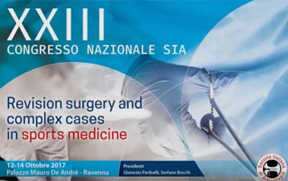 Congresso Sia: fallimenti e revisioni nella chirurgia in sport medicine