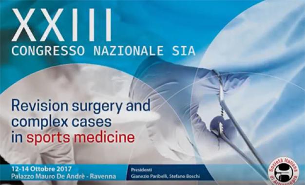 Congresso Sia: fallimenti <br />e revisioni nella chirurgia<br /> in sport medicine