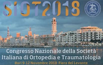 Congresso Siot 2018 a Bari dal 9 al 12 novembre