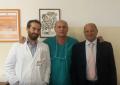Vincenzo Caiaffa e Biagio Moretti <br>presentano il Congresso Siot <br>di Bari